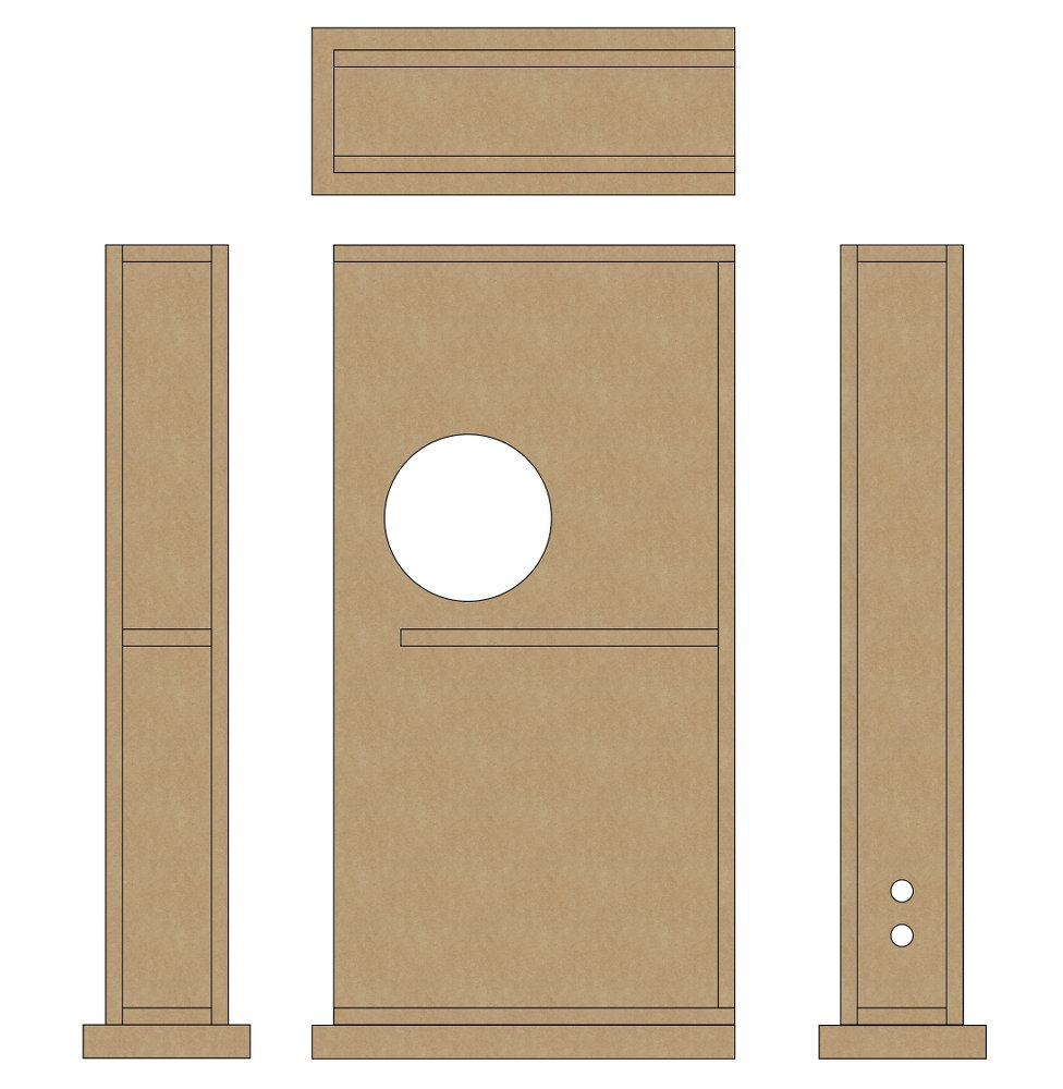 The 3-way speakers MDF core