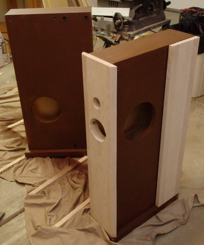 Trial fit the speaker baffle and side panel.