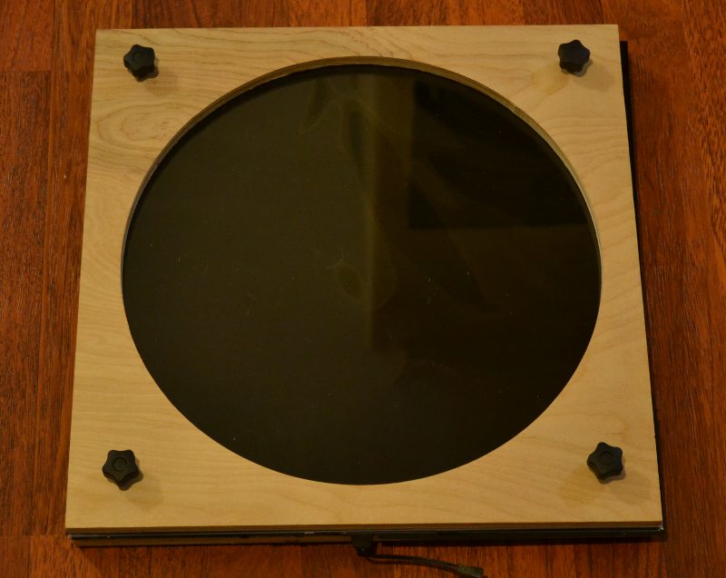 Telescope flat field panel with ND filter