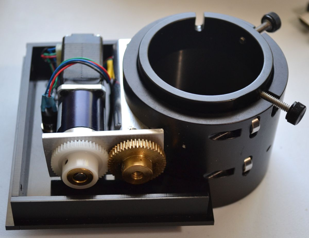 The focuser with motor installed