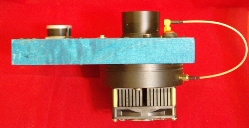 Color filter wheel with CCD camera and 2-inch adapter installed.
