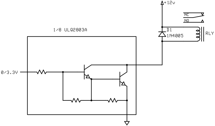 Arduino high power using a darlington and a relay